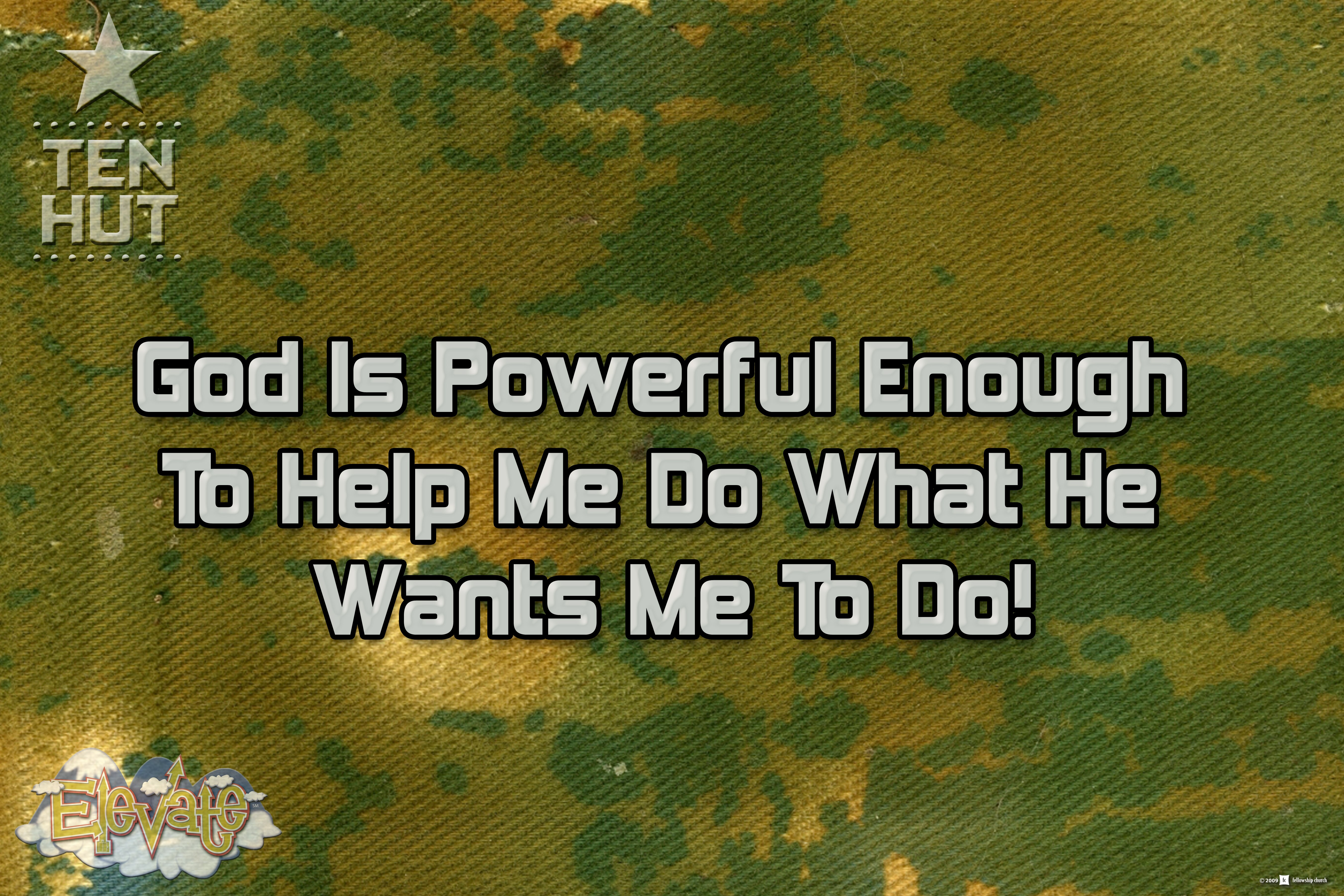 Jan. 6 | 9:30am | God is Powerful Enough to Help Me Do What He Wants Me to Do!