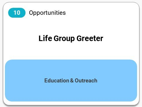 Life Group Greeter