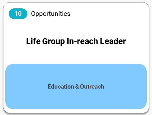 Life Group In-reach Leader