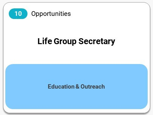Life Group Secretary