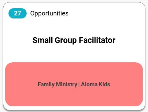 Small Group Facilitator