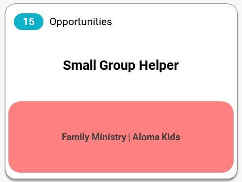 Small Group Helper