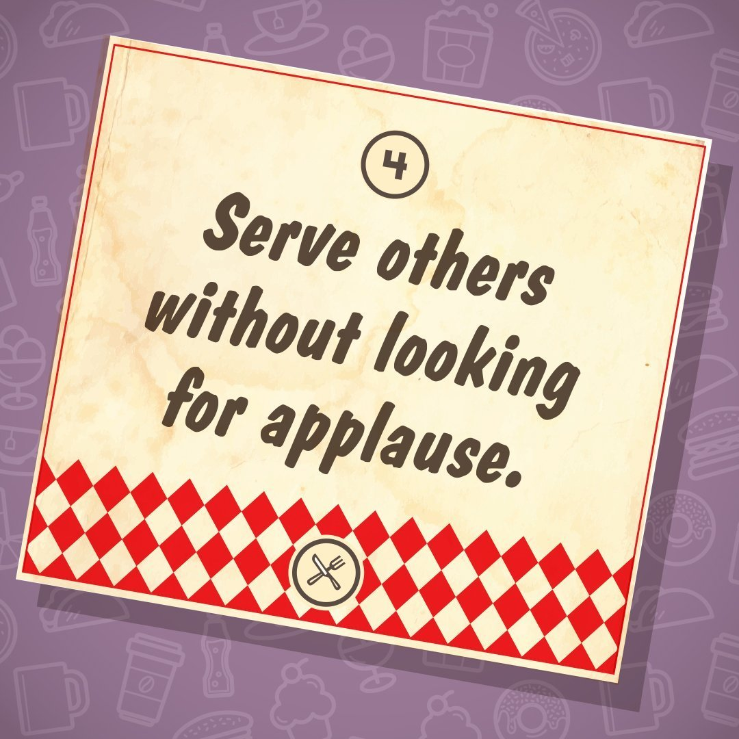Feb. 24 | 9:30am | Serve others without looking for applause