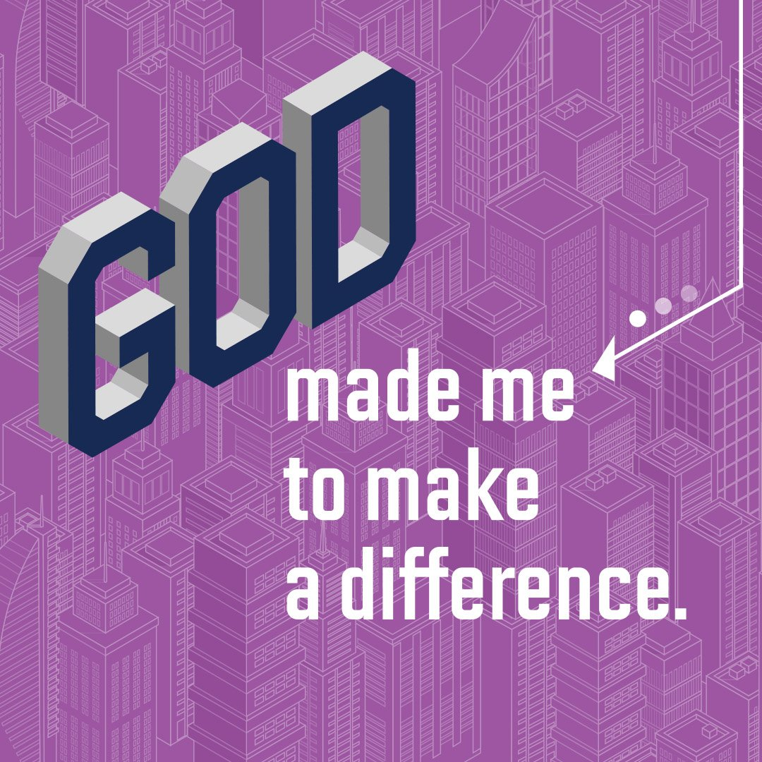 March 17th | 9:30am | God made me to make a difference